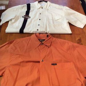 Harley Davidson short sleeve collared shirt bundle